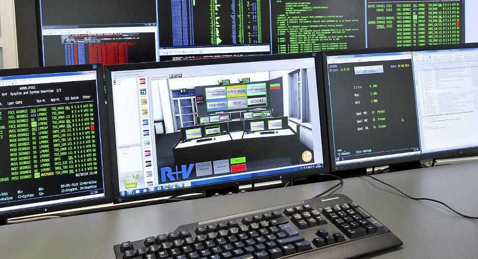 Die myGUI® Bedienung im Einsatz im IT-Leitstand bei der R+V