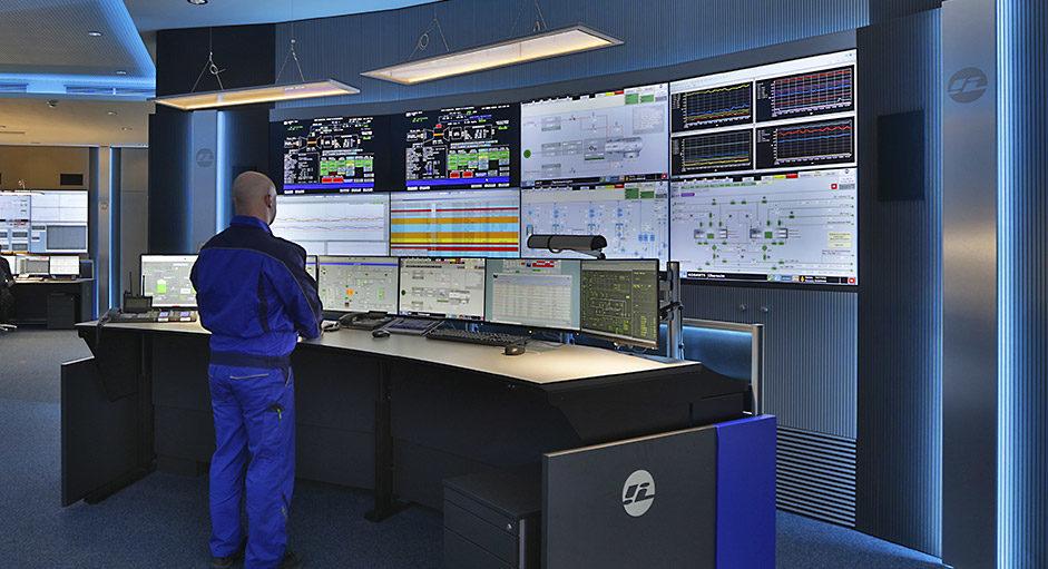 Proaktive 24/7 Monitorwand bei Infraleuna