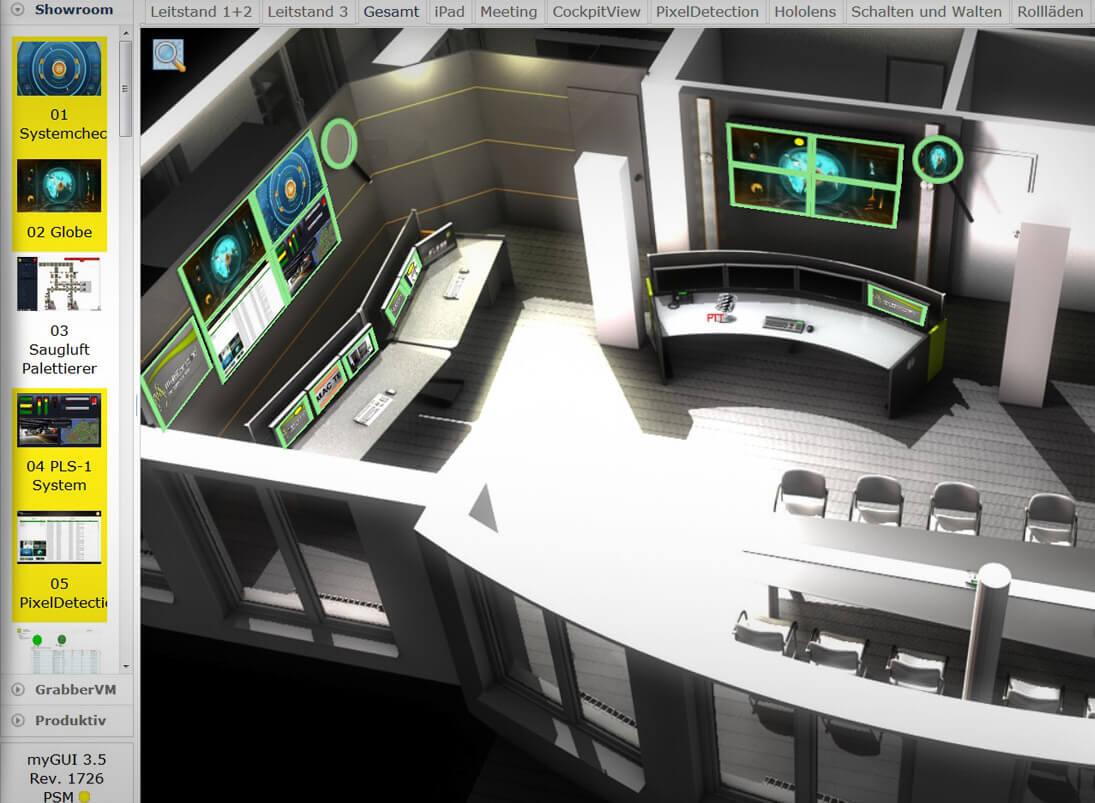 myGUI-Bedienung in 3D