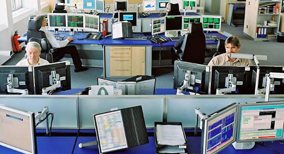 Grafik-Controller im Betrieb im IT-Leitstand der Lufthansa-Systems