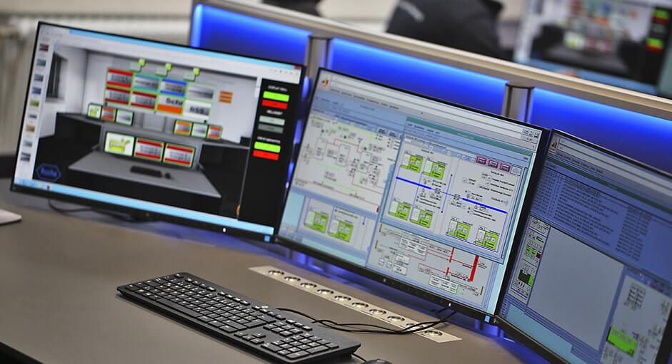 Die myGUI® Bedienung im Einsatz in einer Facility-Leitwarte