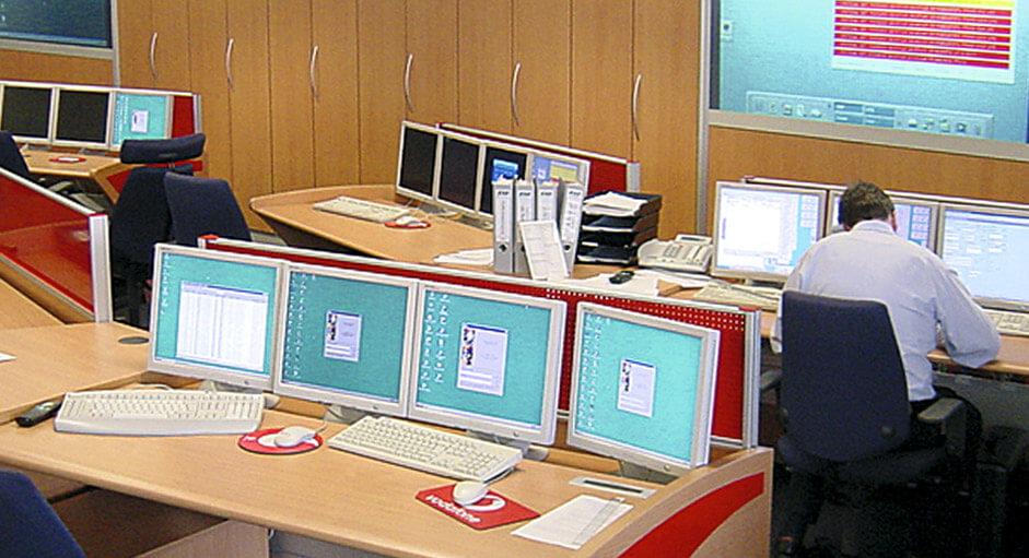 Grafik-Controller im Betrieb im NOC bei Vodafone