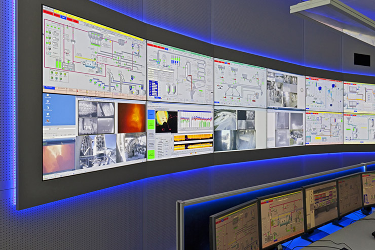 JST large-screen technology control room