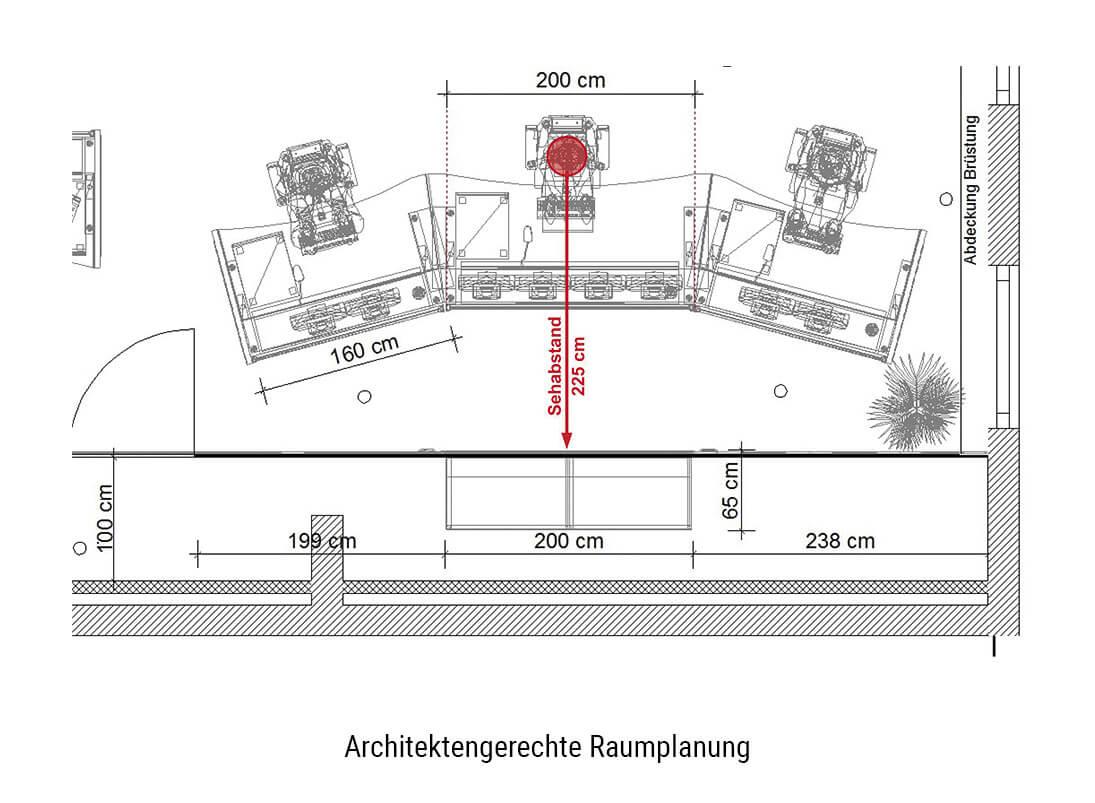 JST-Kontrollraum-Planung. Raumplanung