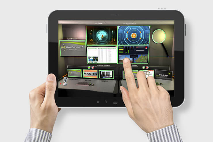 myGUI® - User interface for large screen system, workplace & infrastructure