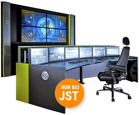 Kontrollraum-Pult und Leitstellentisch von JST Jungmann