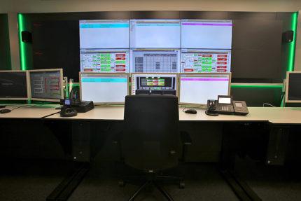 JST-AUDI Montageleitstand Ingolstadt: Blick auf die Grossbildwand