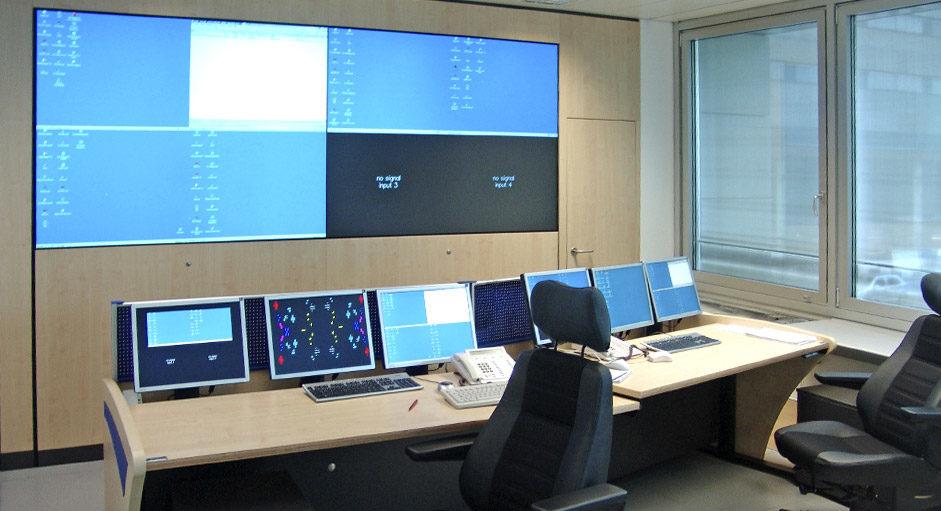 Cube-Großbildsystem im Einsatz beim Flughafen München
