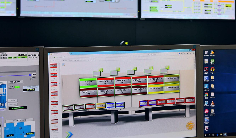JST Gassco Emden: grafische MultiConsoling-Oberfläche myGUI