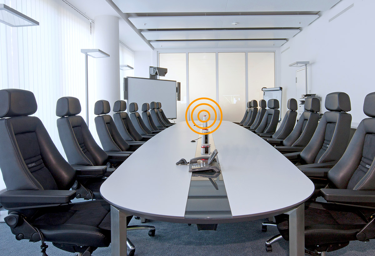 JST-Control Room Conference Table Communicate across rooms