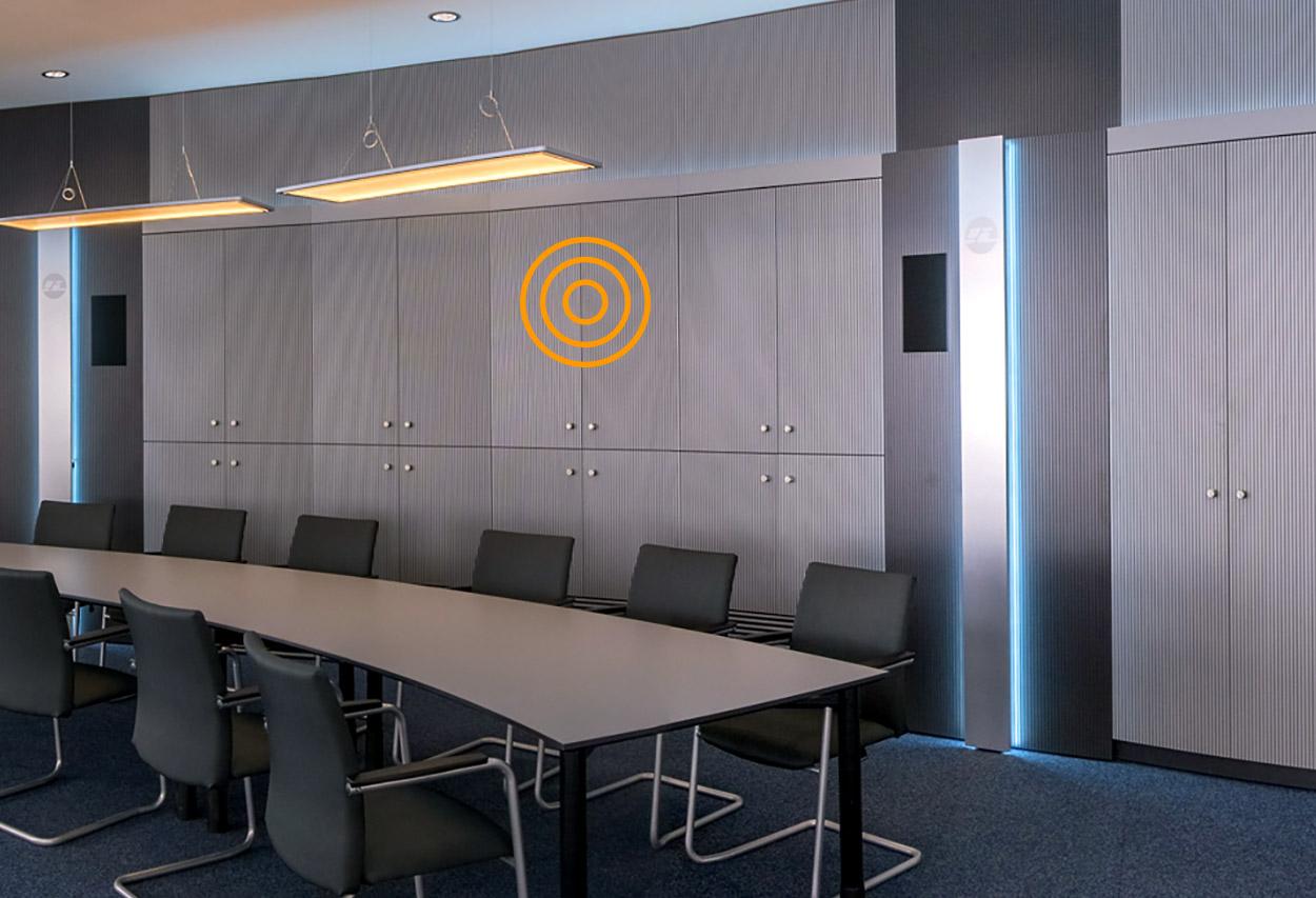 JST-Leitwartemöbel: Umfeldmöblierung. Kontrollraum-Wandschrank