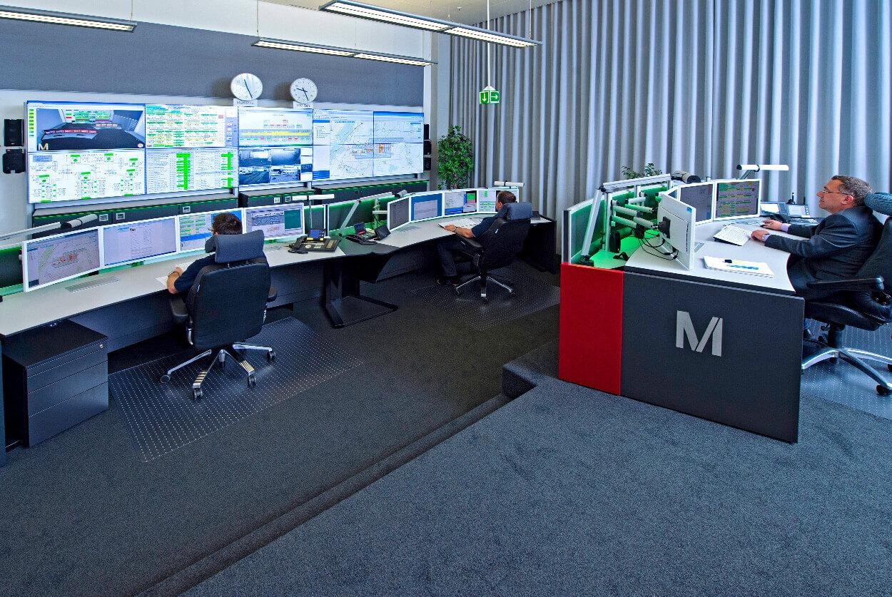 JST Flughafen München Technik - Leitwarte nach der Modernisierung