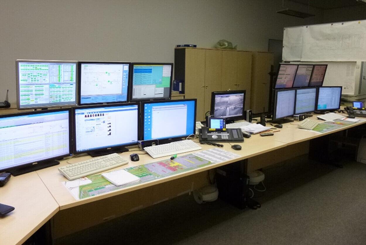 JST Flughafen München Technik - Leitwarte vor der Modernisierung