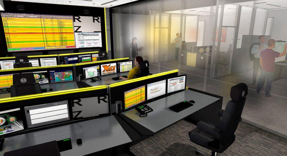 JST-Raiffeisen Rechenzentrum: 3D-Planung bietet dem Kunden schon vorab einen Einblick in den neuen Kontrollraum