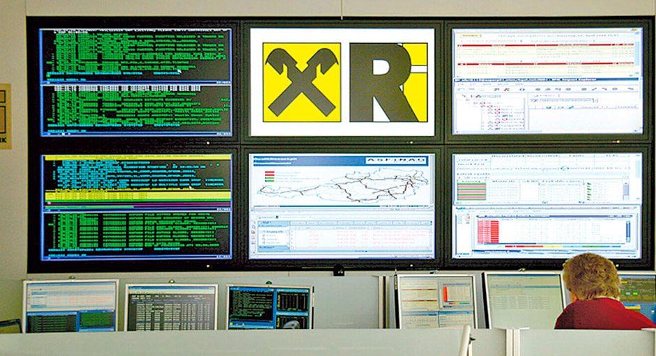 Kontrollraum-Remote im Einsatz bei der Raiffeisen-Informatik, Wien