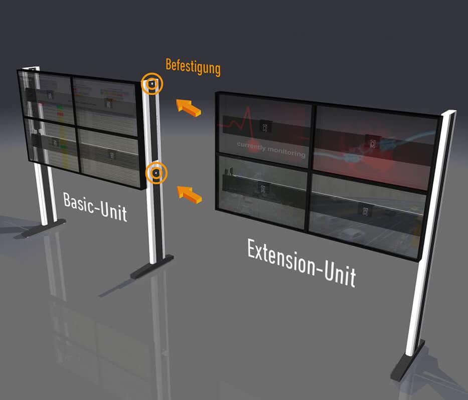 JST DisplayRack Frontansicht