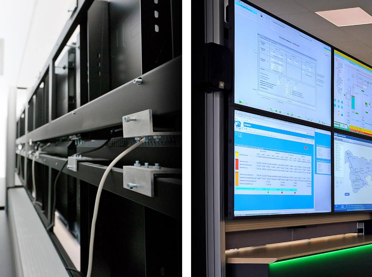 JST DisplayWall DisplayRack Frontansicht / Rückansicht