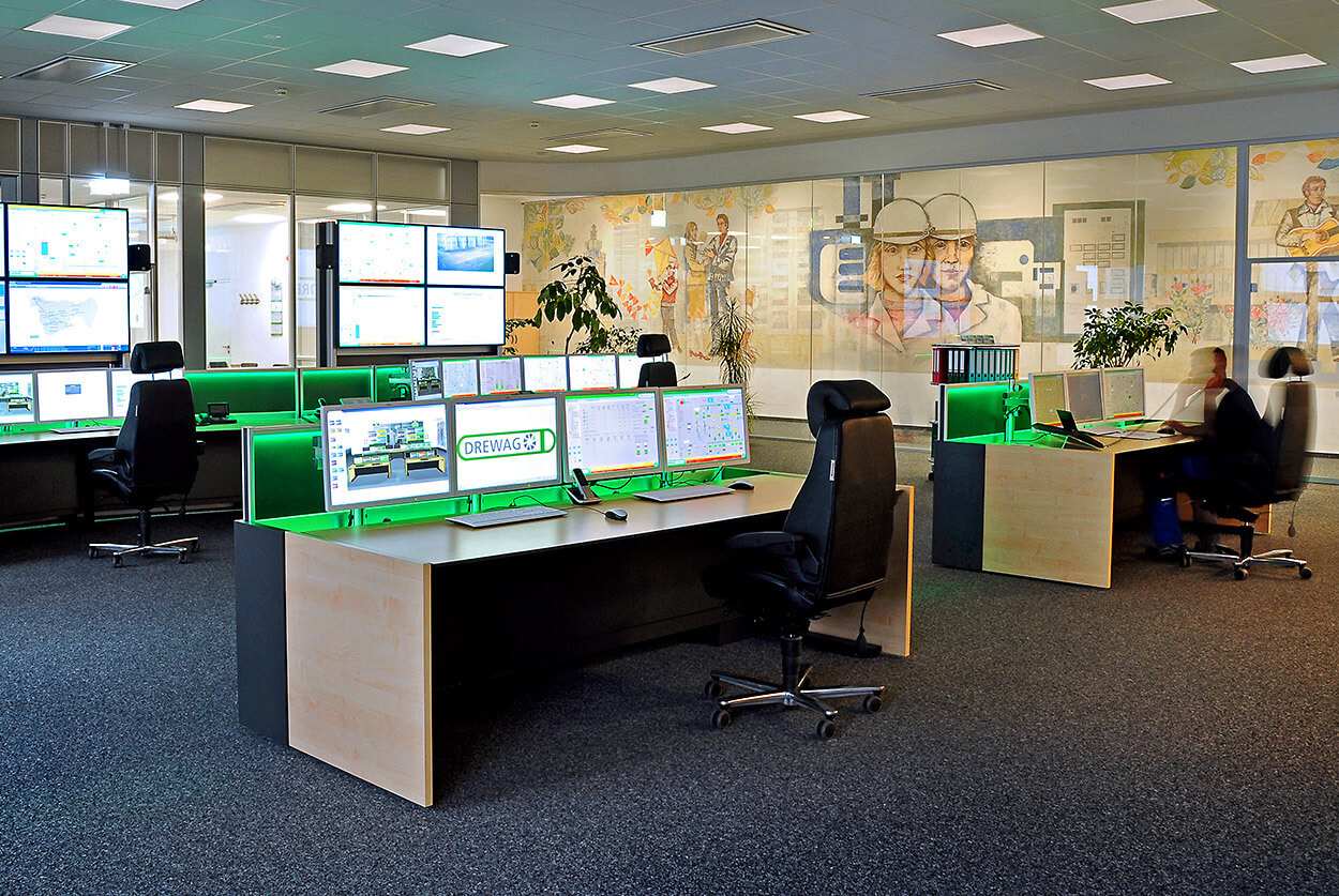 JST DREWAG: Control room after modernisation