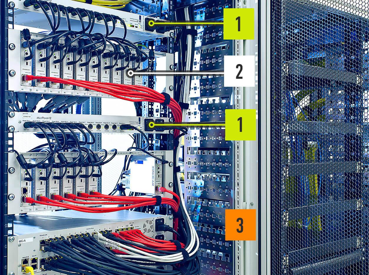 JST Infoflyer: MultiConsoling-Hardware im Technikraum
