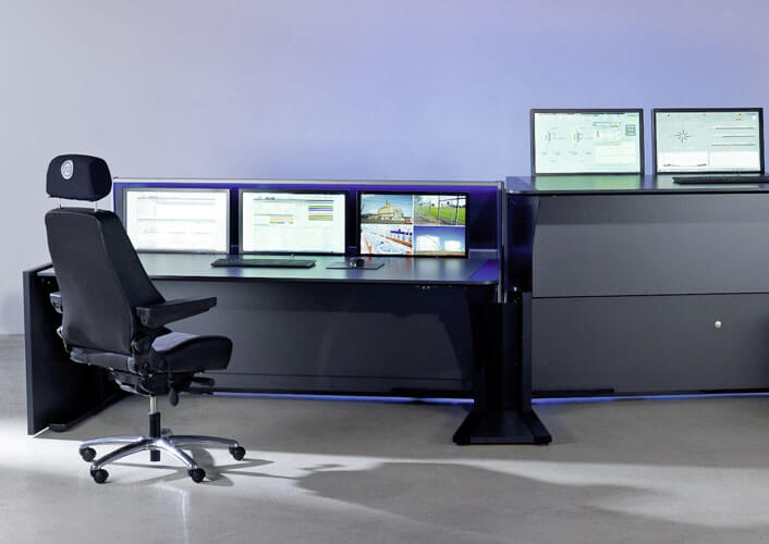 JST Stratos X11 control room console - height adjustable
