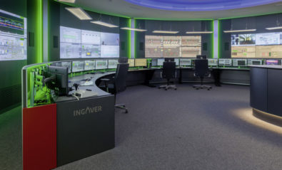 JST Stratos X11 Curve control centre desks in use at INGAVER Bremen