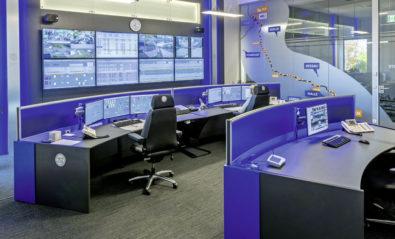 JST Stratos X11 Curve control centre desks in use at MWL Schwedt