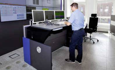 JST Stratos X11 control room console in use at Volkswagen FIS control room in Wolfsburg