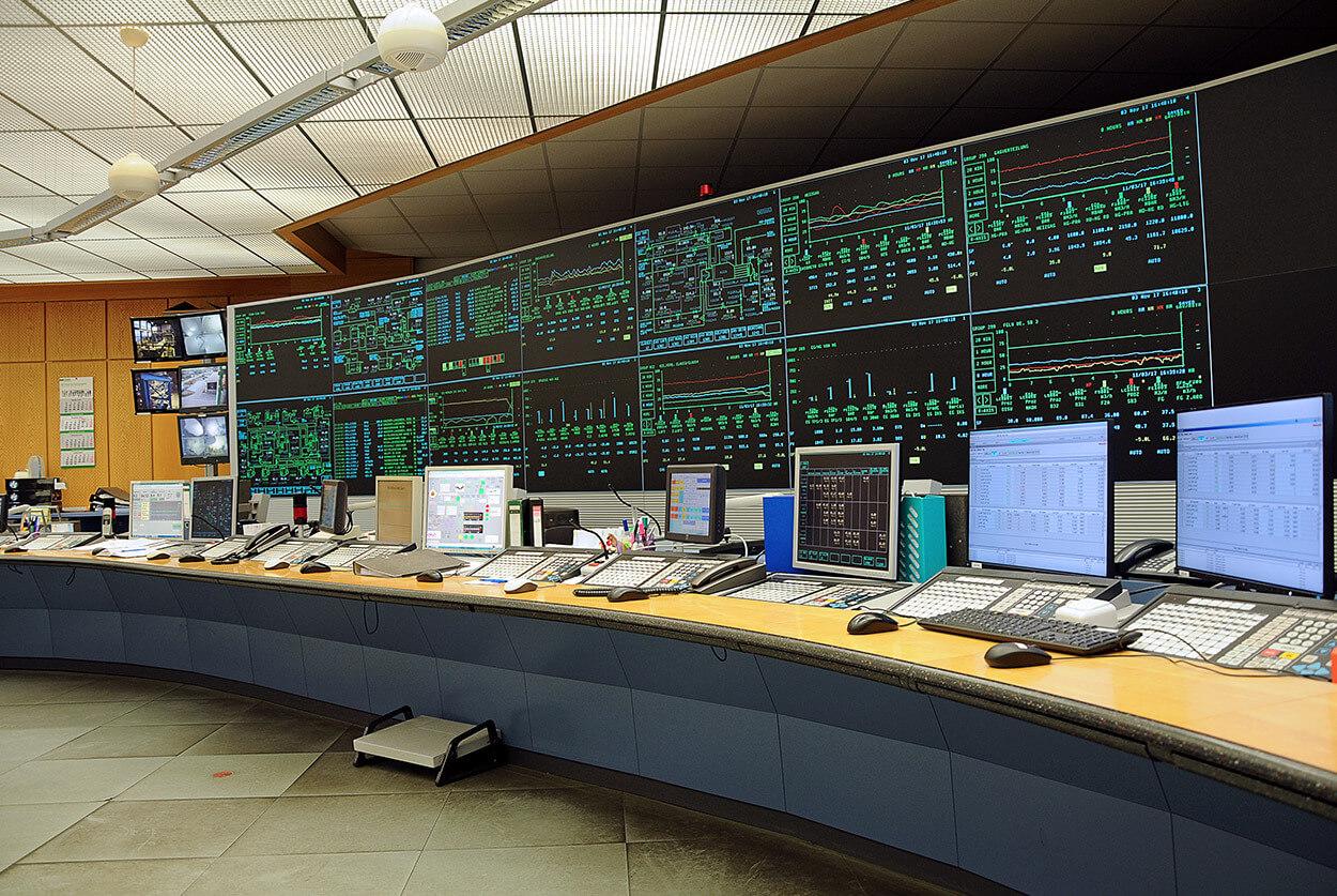 PCK Leitwarte vor der Modernisierung
