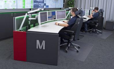 JST Stratos X11 Curve control centre desks in use - Munich Airport