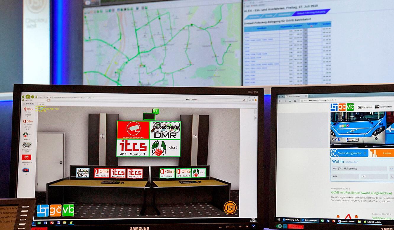 JST - Göttinger Verkehrsbetriebe: myGUI-Bedienoberfläche für das MultiConsoling