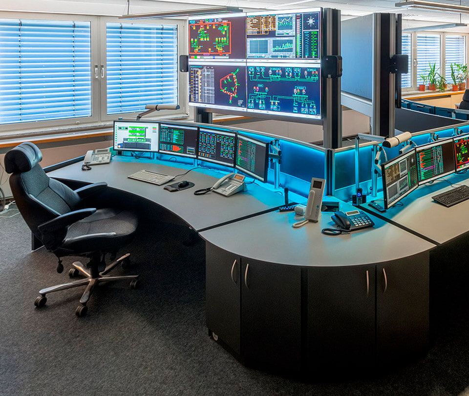 Netze Magdeburg - Modernised power supply control room
