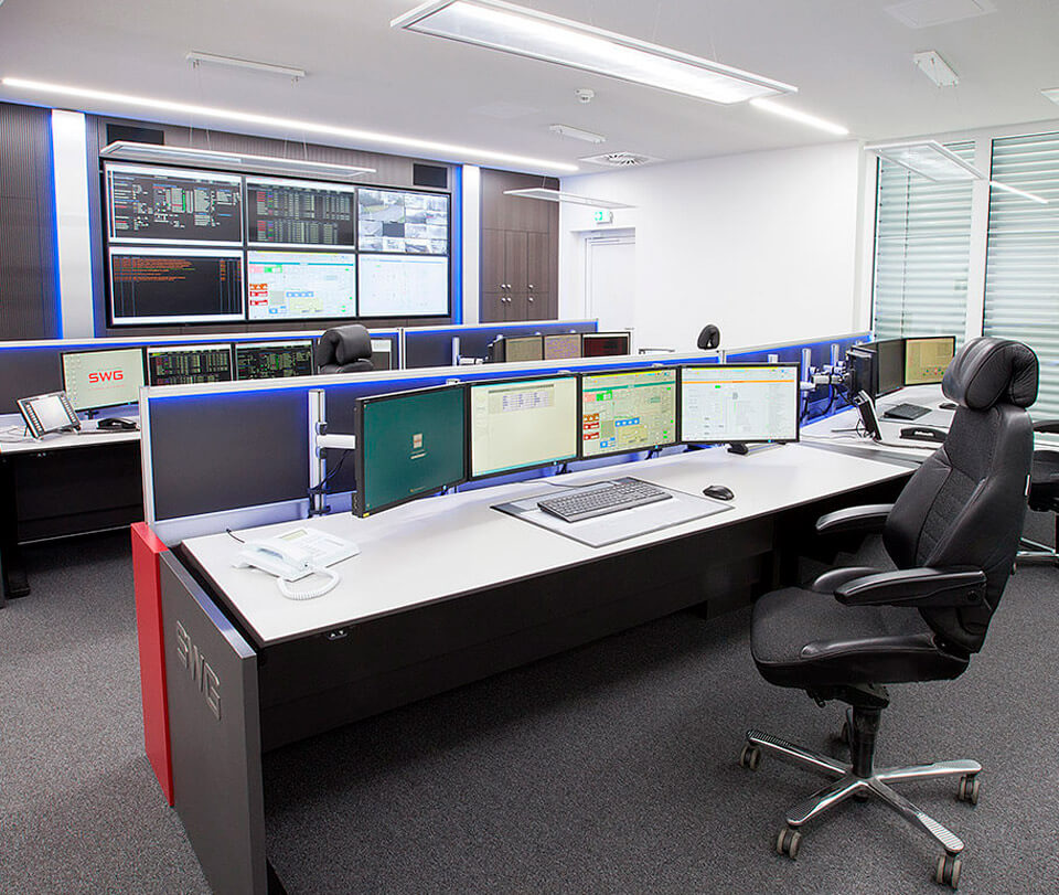 Stadtwerke Gießen - Modernised power supply control room
