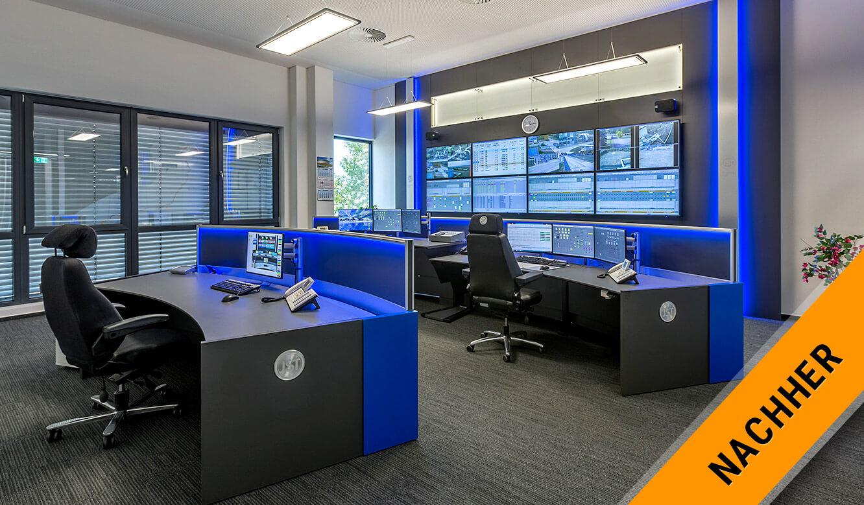 JST MVL Schwedt: neue ergonomische Leitstellen-Lösung in modernem Design