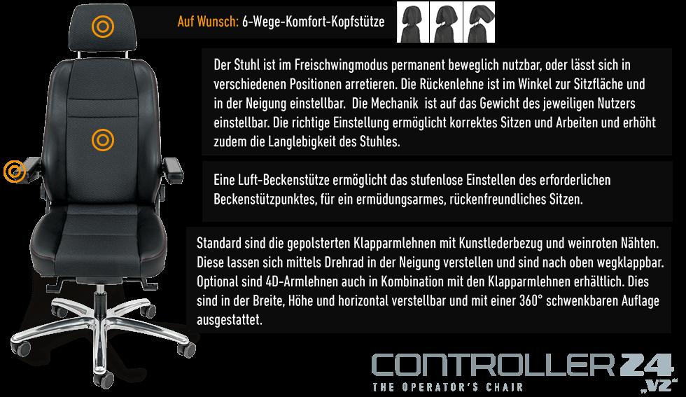 JST Technische Daten: Operatorstuhl CONTROLLER 24 v2 - Details