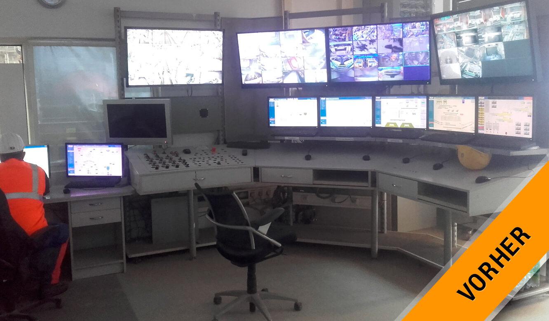 JST VA Erzberg: Alte Leitwarte vor der Modernisierung
