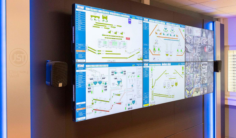 JST VA Erzberg: Monitorwand 24/7 LC-Displays