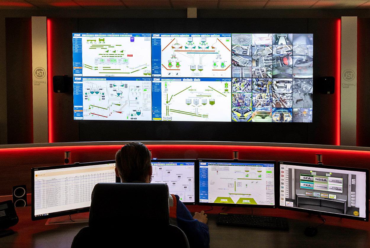 JST - VA Erzberg: Leitwarte nach der Modernisierung