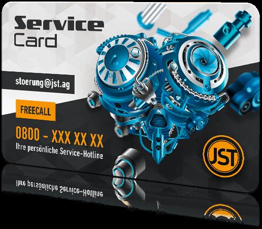 Wartung und Service im Leitstand – Service Card von JST Jungmann