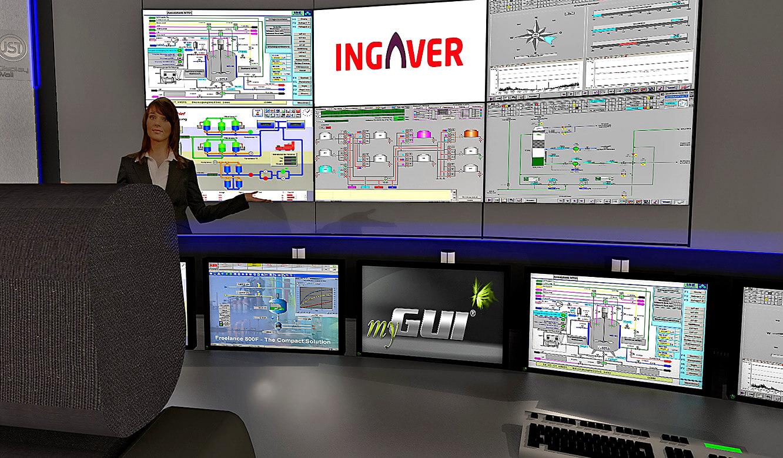 JST INGAVER: Fotorealistische 3d-Planung der Großbildleinwand aus der Operator-Perspektive
