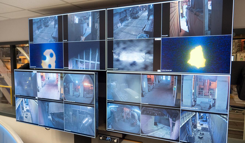 JST Salzgitter Flachstahl: Steuerung Videowall mit Multiconsoling-Bediensystem
