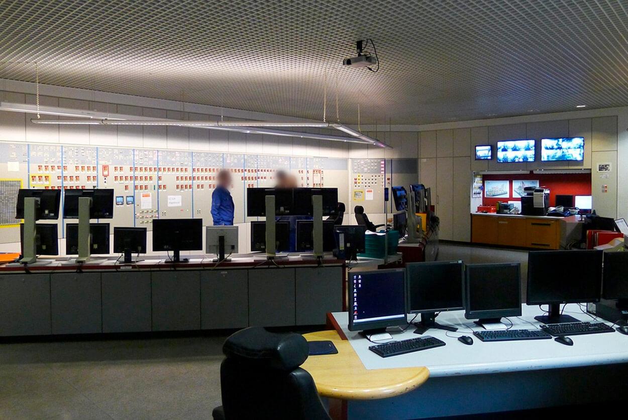JST INEOS Oxide: Messwarte vor der Modernisierung