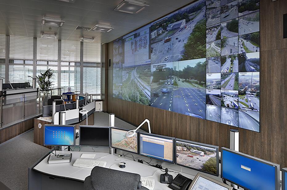 Verkehrsleitzentrale für das Verkehrsmanagement von JST Jungmann