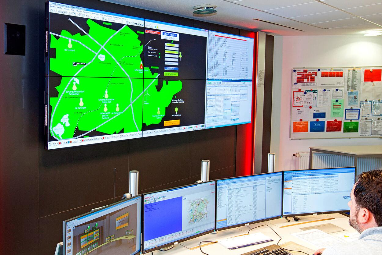 JST Stadtwerke Ratingen – Kontrollzentrum nach der Modernisierung