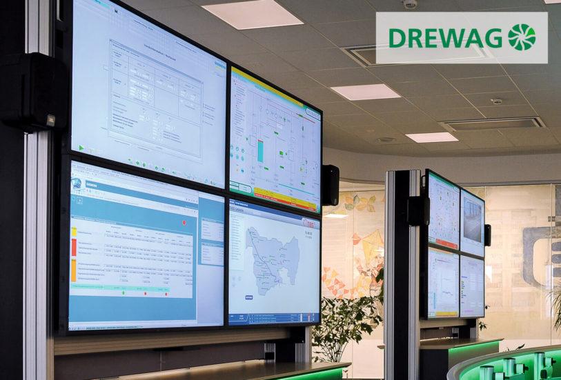 JST DREWAG: zwei DisplayWalls sorgen für perfekten Überblick