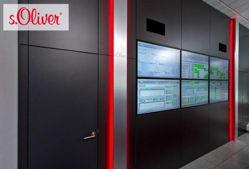 JST DisplayWall mit sechs 46-Zoll-Display und eventgesteuertem Ambient-Light-Alarm