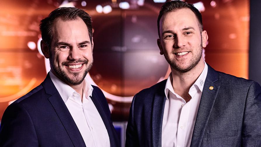 Kontrollraum-Spezialisten und Berater von JST: Timo Bredehöft und Dirk Lüders