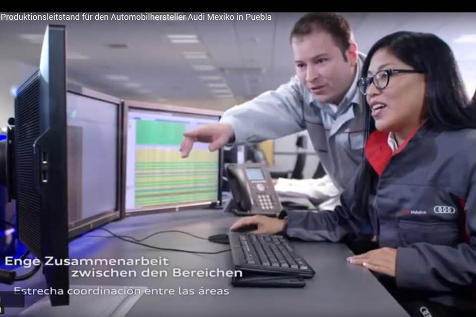 JST Aktuelles: Produktionsleitstand Audi Mexico Video
