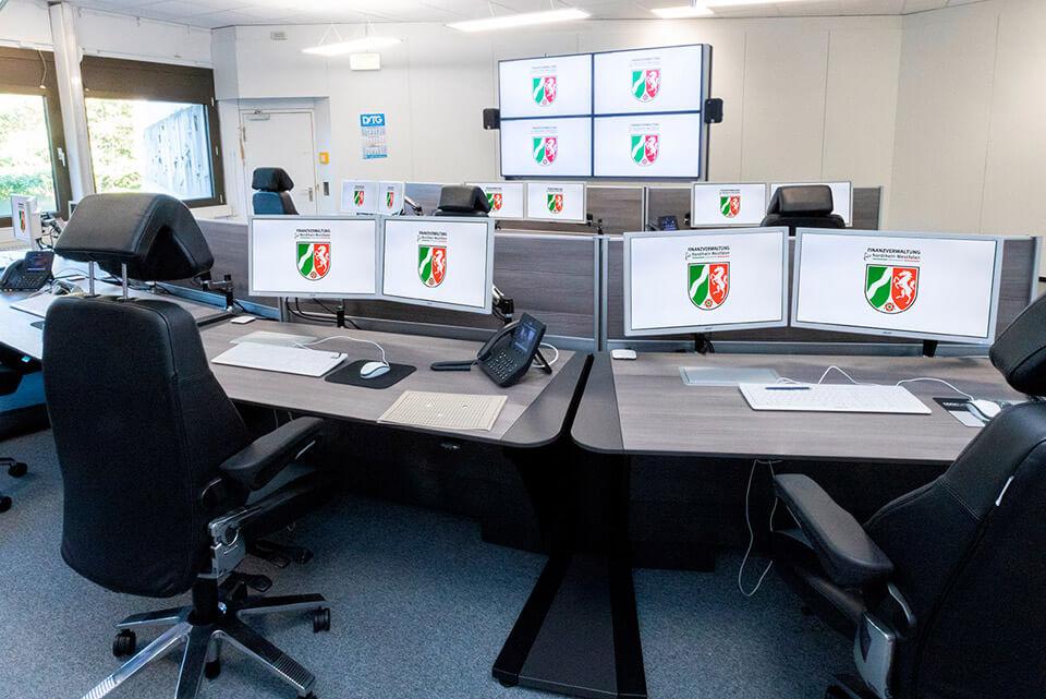JST Aktuelles: Neuer Leitstand im Rechenzentrum Finanzverwaltung NRW