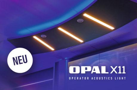 """Akustisches Deckenpaneel """"OPAL X11"""" für Kontrollräume von JST"""