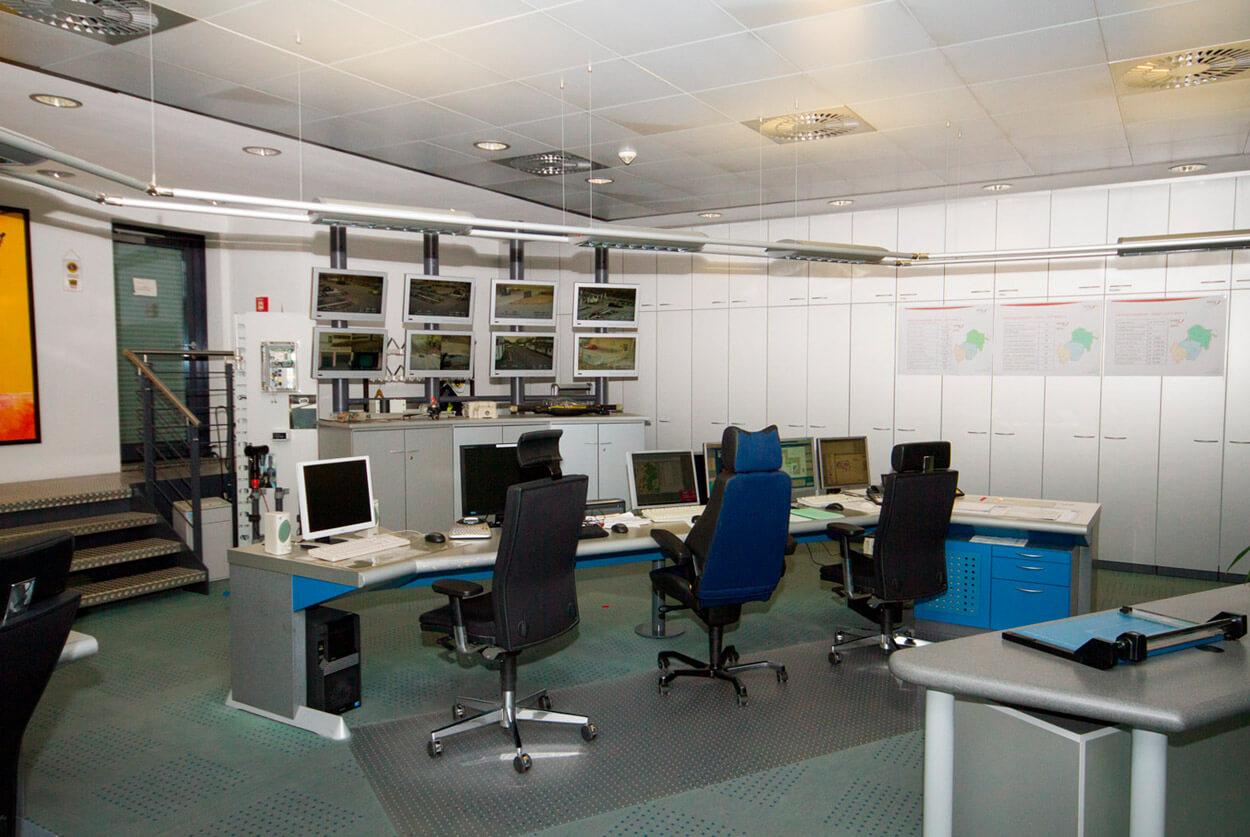 ovag Netz GmbH - Netzleitstelle vor der Modernisierung